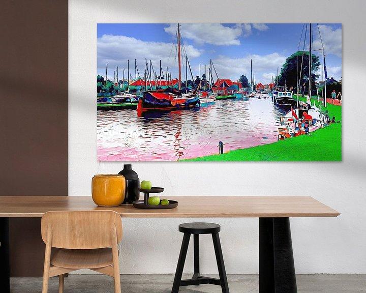 Beispiel: Hafen von Workum von Digital Art Nederland