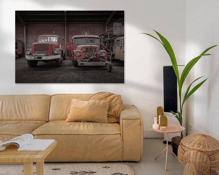Beispiel: Alte Feuerwehrfahrzeuge von Robbert Wille