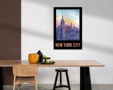 New York City USA Klassisches Retro-Poster von Markus Bleichner