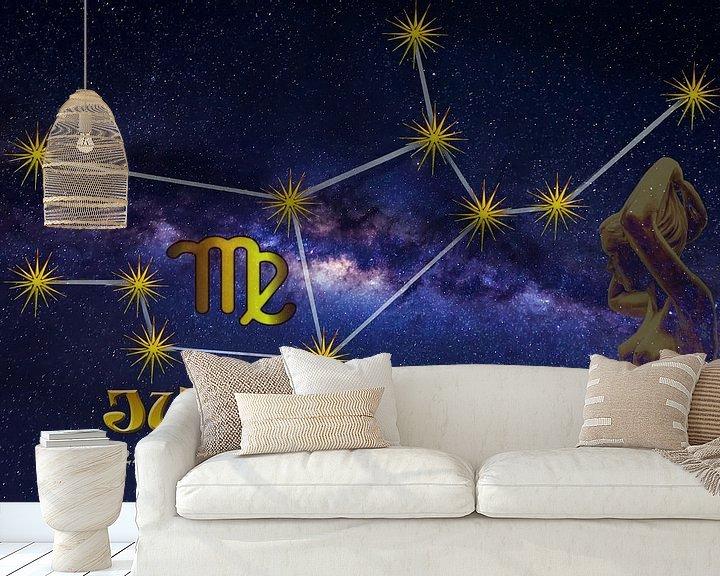 Beispiel fototapete: Sternzeichen - Jungfrau von Christine Nöhmeier