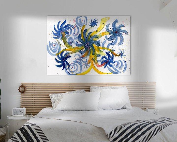 Beispiel: Blumenblau von Irene Hoekstra