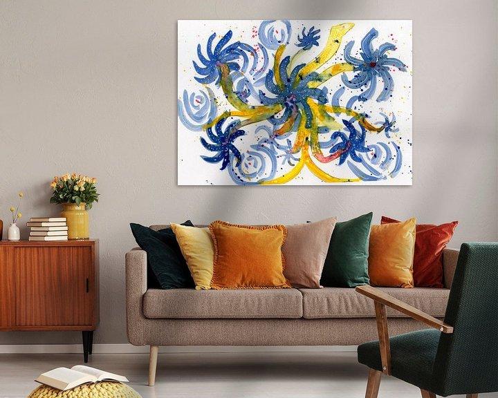 Sfeerimpressie: Floral Blue van Irene Hoekstra