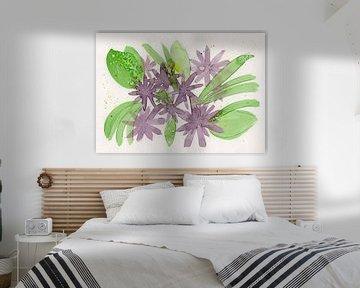 Floral Purple II van Irene Hoekstra