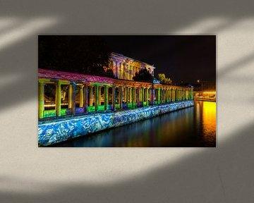 Berlin - Ancienne galerie nationale et colonnades sur la Spree