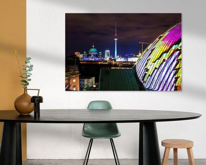 Sfeerimpressie: Berlijnse skyline in een bijzonder licht van Frank Herrmann