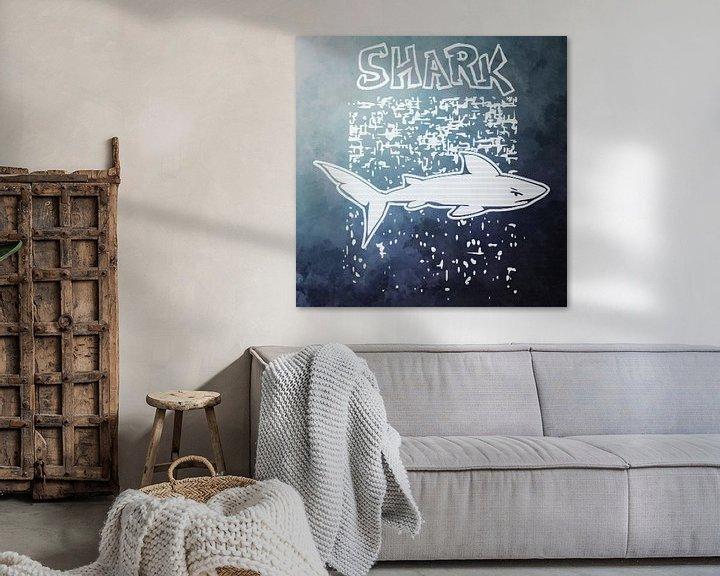 """Beispiel: Starkes Hai-Design mit Text """"Hai"""" von Emiel de Lange"""