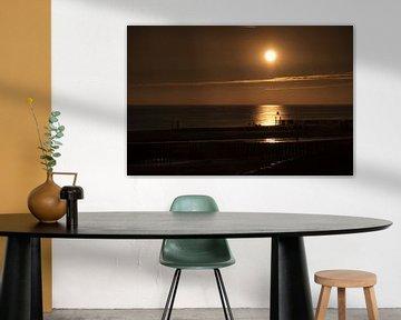 Vissers in de ondergaande zon. von Edwin Harpe