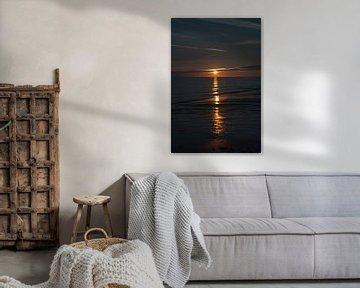 Zonsondergang Zoutelande van Edwin Harpe