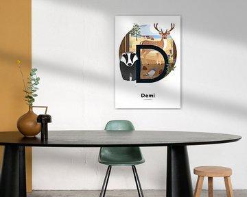 Affiche nominative Demi sur Hannahland .