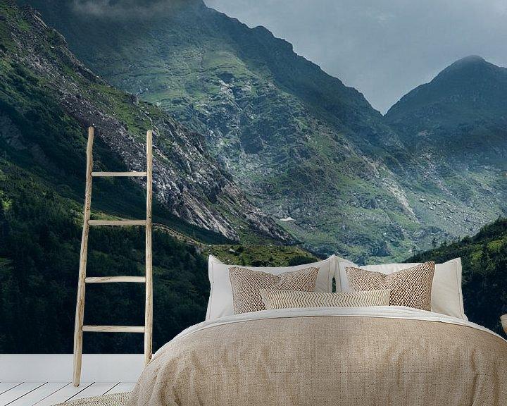 Sfeerimpressie behang: Waterval in de Karpaten van Sander Strijdhorst
