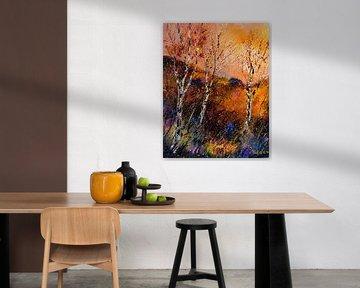 Drei Birken im Herbst von pol ledent