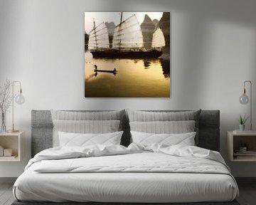 Stimmungsvolle malerische Arbeit der Fischer (Fischerboot) von Cor Heijnen