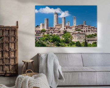 San Gimignano, site du patrimoine mondial de l'UNESCO, Toscane, Italie sur Markus Lange