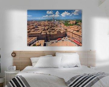 Piazza del Campo, Kathedraal Santa Maria Assunta, Siena, Toscane, Italië van Markus Lange