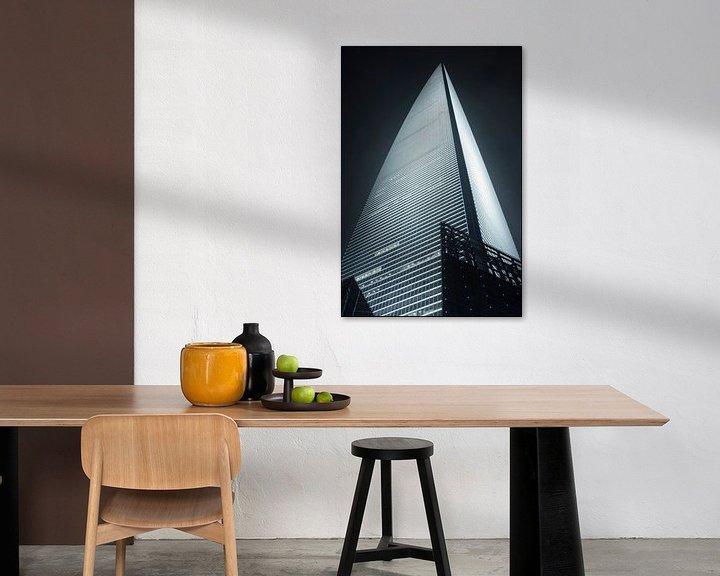 Impression: gratte-ciel World Financial Cente dans le district de Pudong Shanghai 6 sur Tony Vingerhoets