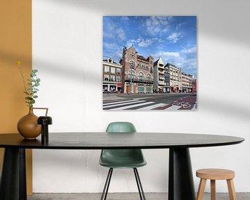Rangée de maisons anciennes au célèbre Rokin, Amsterdam sur Tony Vingerhoets