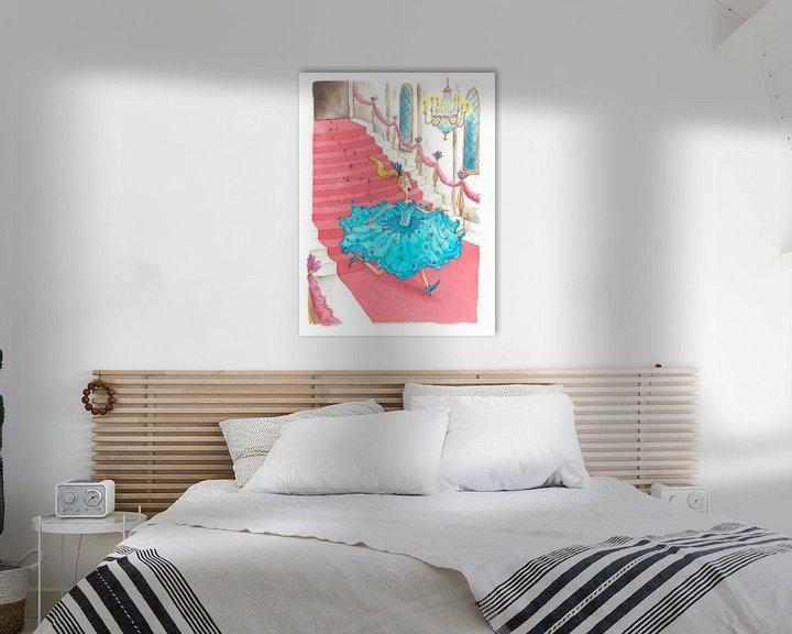 Beispiel: Cinderella - Aquarell-Illustration für Kinder von Mayon Middeljans