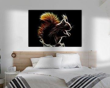 Glühendes Eichhörnchen von Bert Hooijer