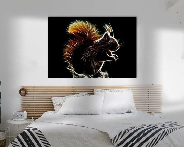 Beispiel: Glühendes Eichhörnchen von Bert Hooijer
