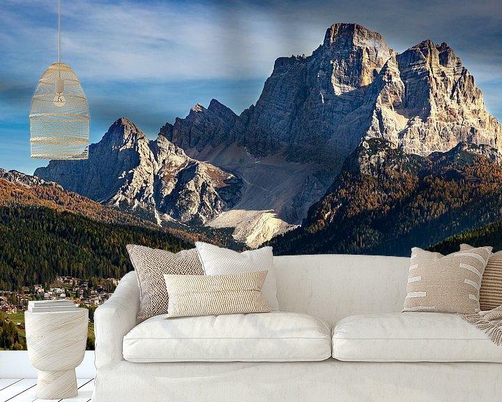 Sfeerimpressie behang: Dolomieten Landschap - 2, Italië van Adelheid Smitt