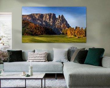 Dolomieten Landschap - 4, Italië van Adelheid Smitt
