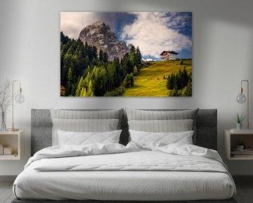 Dolomieten Landschap - 1, Italië van Adelheid Smitt