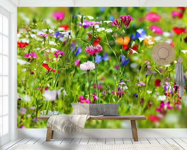 Beispiel fototapete: Blumenwiese von fotoping