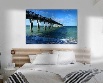 Seebrücke in Venice Florida - Fishing Pier Venice Florida von Christiane Schulze