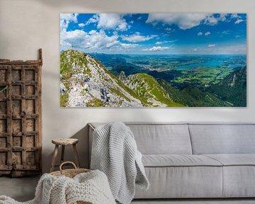 Panorama vom Säuling von Walter G. Allgöwer