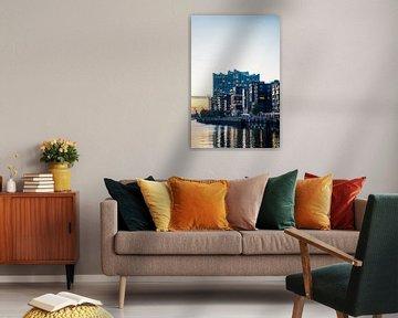 Elbphilharmonie Hamburg blaue Stunde von Der HanseArt