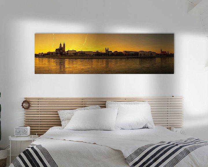 Impression: Panorama de Magdebourg au coucher du soleil sur Frank Herrmann