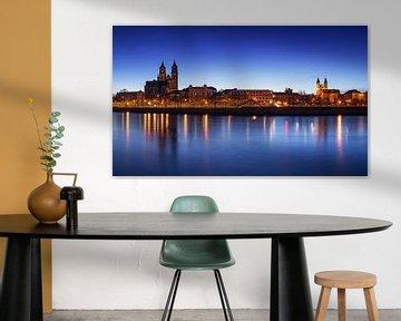 Maagdenburg op het blauwe uur van Frank Herrmann