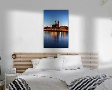 Maagdenburgse Dom op het blauwe uur van Frank Herrmann