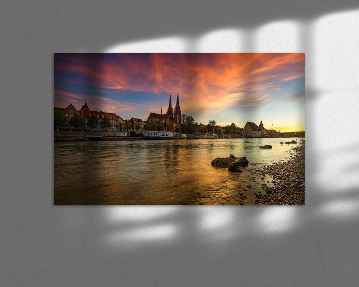 Sfeerimpressie: Regensburgse zonsondergang van Frank Herrmann