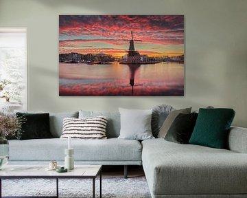 Epische zonsopkomst (liggend) van Harro Jansz