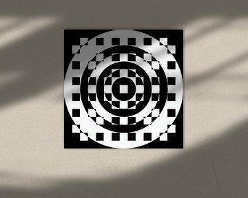 Abstrakte geometrische Formen in Schwarz und Weiß von Maurice Dawson