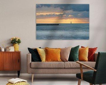 Ostseeküste zum Sonnenuntergang von Ralf Lehmann