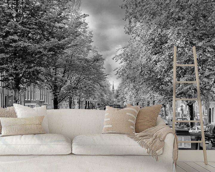 Sfeerimpressie behang: De Bloemgracht in Amsterdam in de herfst. van Don Fonzarelli