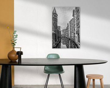 Ein Blick von den Bruck in der Spooksteeg Amsterdam. von Don Fonzarelli