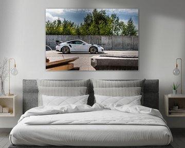 Weißer Porsche 911 GT3 RS von Bas Fransen