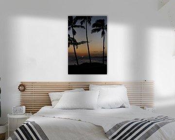 Hawaï - Zonsondergang van t.ART