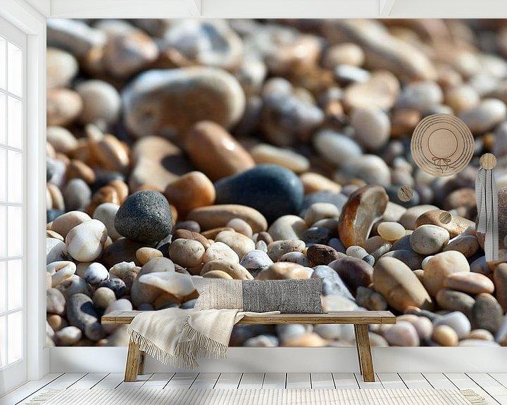 Beispiel fototapete: Kiesel am strand von Mieneke Andeweg-van Rijn