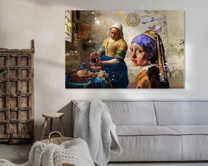 Beispiel: Vermeer-Mädchen von Rene Ladenius Digital Art