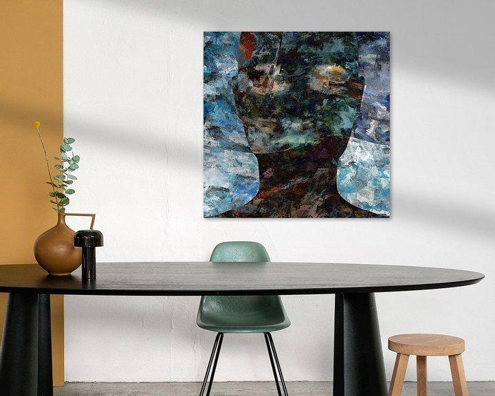 Sfeerimpressie: Abstract grunge portret vrouw van Maurice Dawson