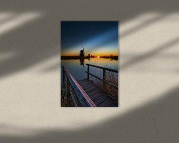 Kinderdijk molen, UNESCO werelderfgoed van Dirk-Jan Steehouwer