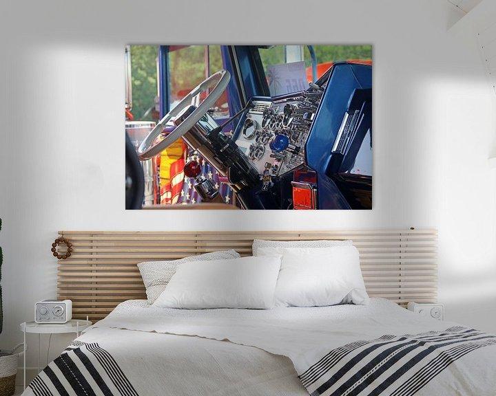 Sfeerimpressie: Prachtige cabine van een Amerikaanse Peterbilt vrachtwagen van Ramon Berk
