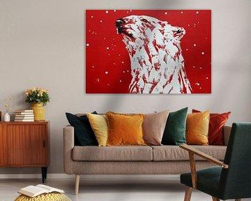 Eisbär von Kathleen Artist Fine Art