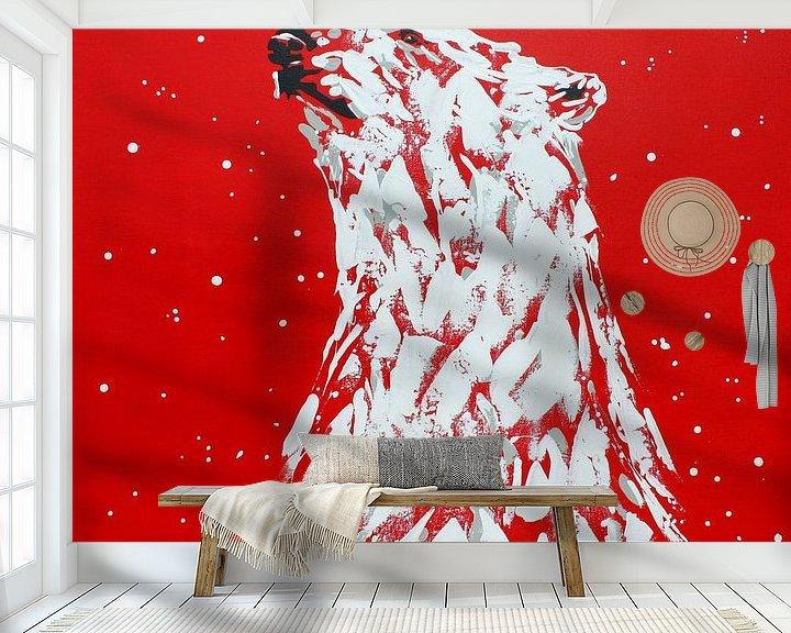 Beispiel fototapete: Eisbär Cola von Kathleen Artist Fine Art