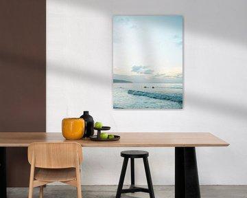 Surfers op Playa Bonita | Reisfotografie print | Las Terrenas Dominicaanse republiek