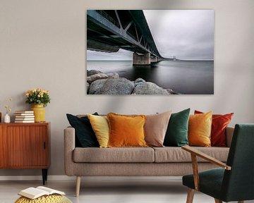 De Oresund brug gezien vanuit Malmö van Gerry van Roosmalen